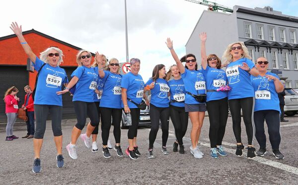 A group running the marathon for Pieta House.