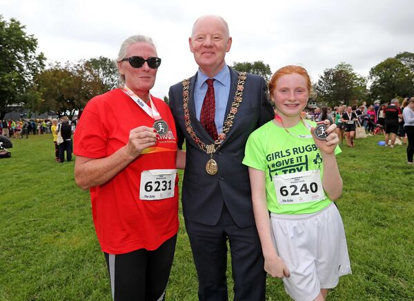 Lady Mayoress Aedamar Sheehan, Lord Mayor Cllr John Sheehan and Eimear Sheehan.