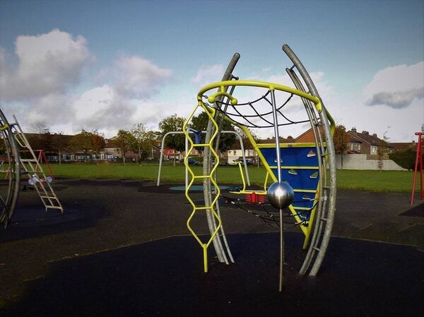 The playground at Loughmahon Park, Mahon, restored to its former glory following an arson attack earlier this month.