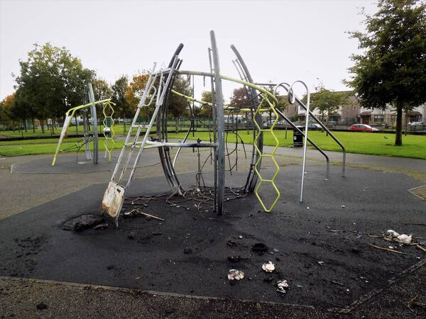 The playground at Loughmahon Community Park was vandalised and burnt out on Saturday, October 12th.