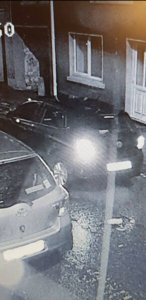 Image of the dark coloured Volkswagen Polo involved in a hit and run on Magazine Road at 3.15am on Saturday morning.