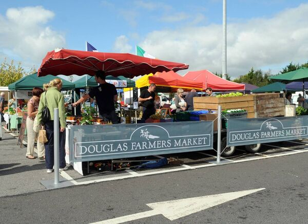 General scene at Douglas Farmers market now based at Douglas Court shopping centre on Saturdays. Picture: Eddie O'Hare