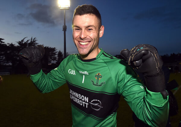 Micheál Aodh Martin celebrates after. Picture: Eddie O'Hare