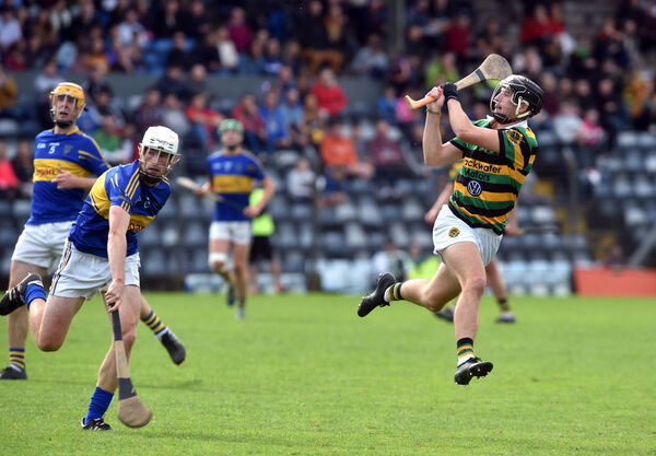 Glen Rovers' Simon Kennefick shoots from Carrigtwohill's Padraic Hogan. Picture: Eddie O'Hare