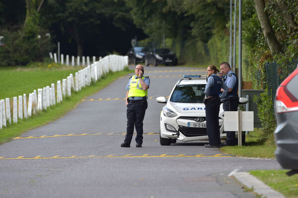 Members of the Gardai in search of suspected burglars at the Bessborough Convent in Mahon, Cork. Picture Dan Linehan