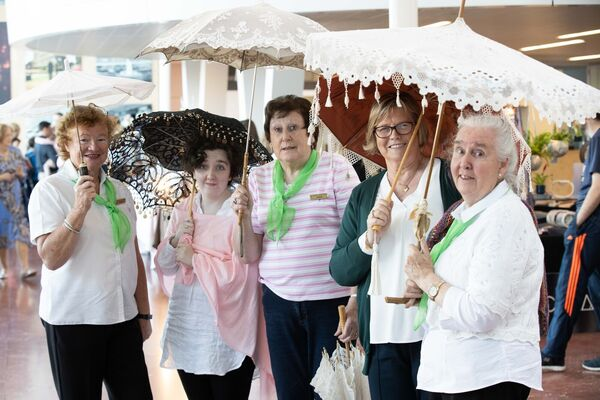 Veronica Stuart, Alice O'Sullivan, Noreen Lawlor, Kathleen O'Mahony and Deirdre McCarry, Traditional Lacemakers of Ireland in County Hall, Cork for the Cork County Council Culture Night celebrations. Pic Darragh Kane