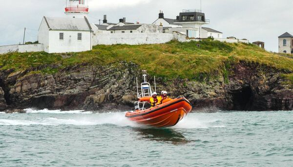 Crosshaven RNLI crew on rescue mission. James Fegan in command and Caoimhe Foster, Alan Venner and Derek Moynan also onbaord. Picture: Crosshaven RNLI