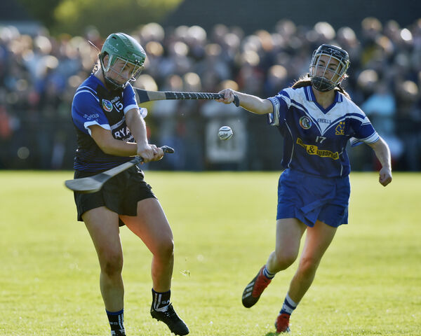 Sarsfields' Michelle Barry shoots from Inniscarra's Aoife Kavanagh. Picture: Eddie O'Hare