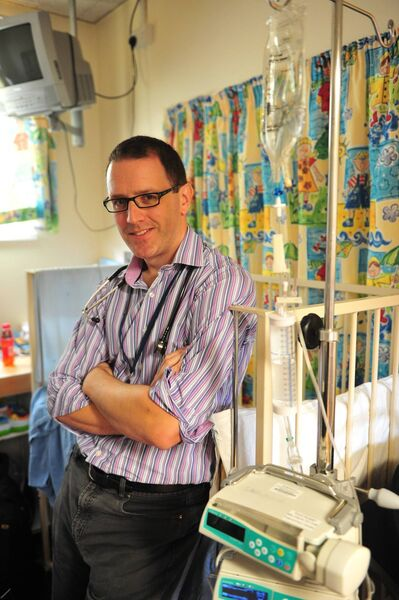 Consultant paediatrician David Mullane in the children's ward at the Cork University Hospital. Picture Dan Linehan