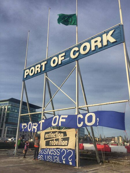 "Extinction Rebellion said animal feed imported into Irish ports ""devastate our ecological systems."""