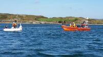 Two sailors and a dinghy rescued by Baltimore RNLI off Spanish Island
