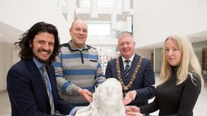 Marble bust of Terence MacSwiney handed over to the Cork Public Museum
