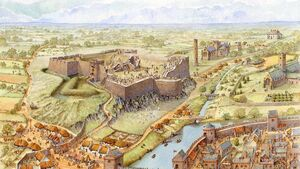How Cork city looked in 1624; new painting shows the construction of Elizabeth Fort