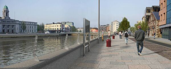 New Pedestrian and cycle quayside amenity at Lapps Quay West