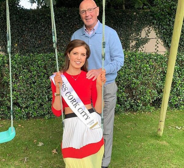 Miss Ireland finalist Niamh Coughlan with her grandad Denis Coughlan, the five time all Ireland winner and dual player.