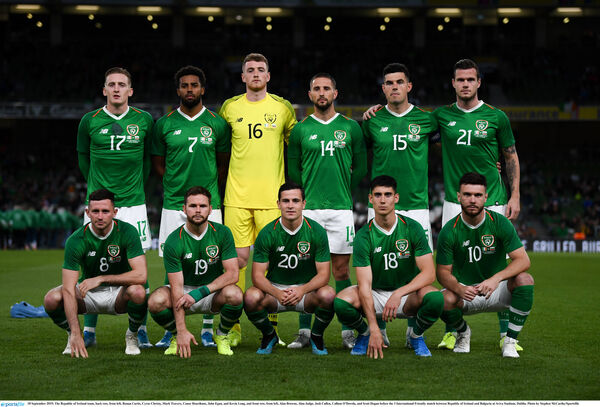 Back: Ronan Curtis, Cyrus Christy, Mark Travers, Conor Hourihane, John Egan, and Kevin Long. Front: Alan Browne, Alan Judge, Josh Cullen, Callum O'Dowda, and Scott Hogan. Picture: Stephen McCarthy/Sportsfile