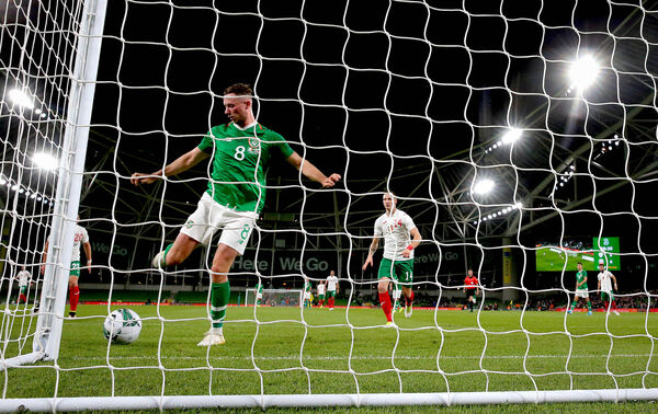 Ireland's Alan Browne scores. Picture: INPHO/Ryan Byrne