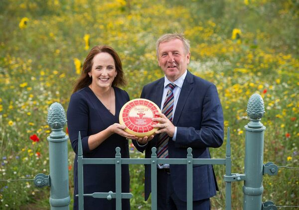 Chees maker Norma Dineen and Minister for Agriculture Michael Creed