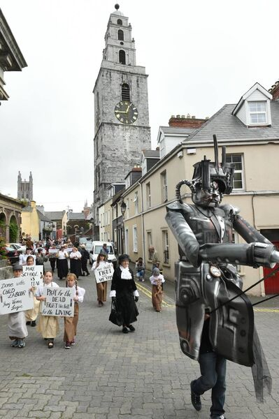 The March of the Mill Children continues through Shandon.