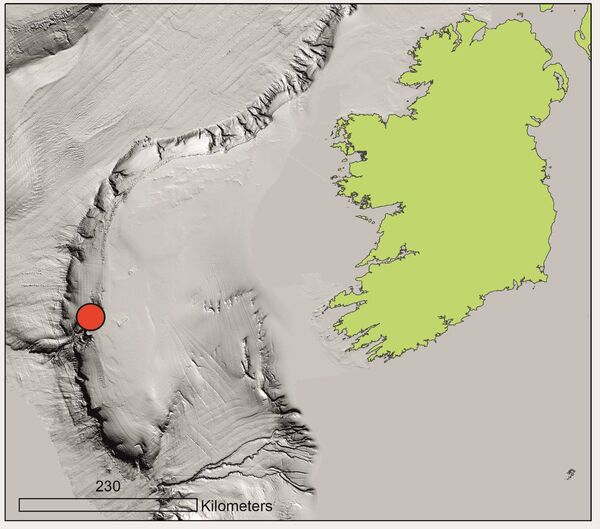 The find by UCC researchers was made 320km due west of Dingle.