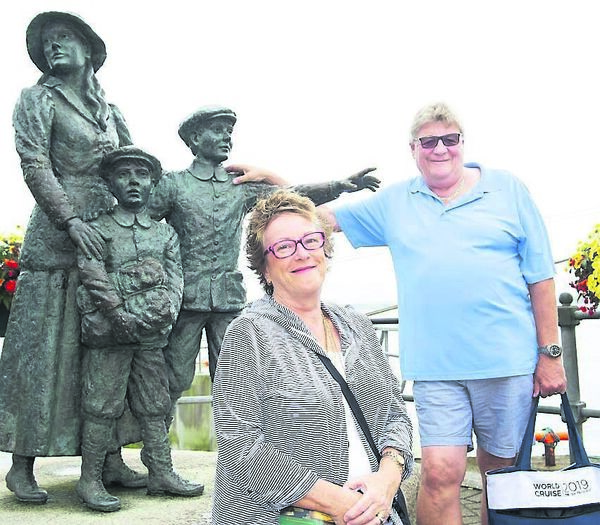 Lynne and Keith Windross from Australia in Cobh.