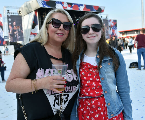 Maria and Ava McCoy, Togher at the Hozier gig at Musgrave park.