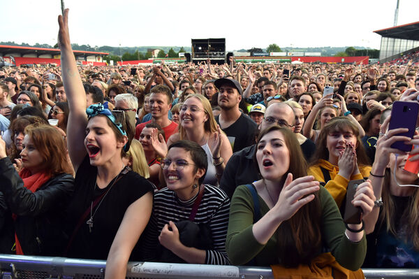 Fans at the Hozier concert at Musgrave park.