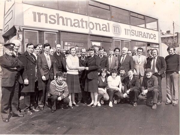 Geraldine Horgan (centre) who made history as one of the first first female bus conductors in Ireland and then went on to become one of the first female bus drivers in the country.