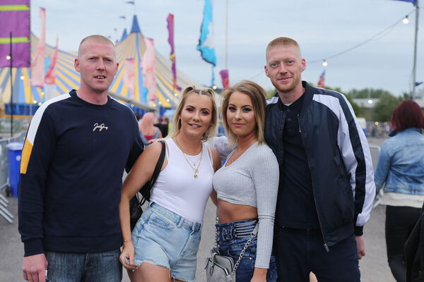 Alan O'Leary, Shelley Duggan, Monika Wasikowska and Sean O'Leary from Midleton pictured at the One Day gig at Live at the Marquee.Picture: Miki Barlok