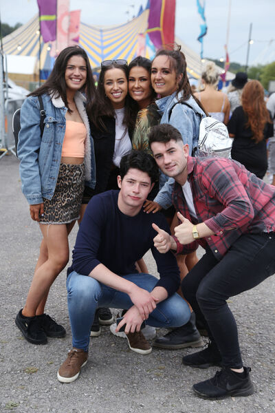 Jay Walsh from Kildare, Maura Russell from Kildare, Emer O'Donnell from Limerick, Alana Lyons from Limerick, Toole Box and Bruce Sullivan from South Liberties pictured at the One Day gig at Live at the Marquee.Picture: Miki Barlok