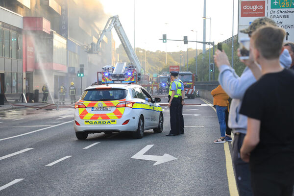 Emergency Services attend the Fire at Douglas Village Shopping Centre. Picture: Chloe Loane.