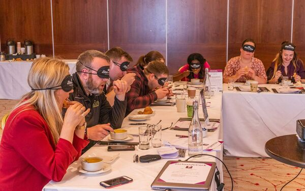 The perceptual lunch at The Kingsley Hotel, Cork, which was part of Clare's training.