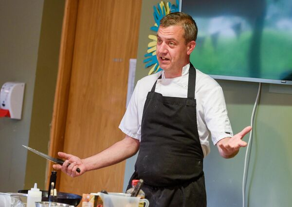 Haven Bay head chef Par Karph pictured at the launch of the Haven Bay Care Centre Cookery BookPicture. John Allen