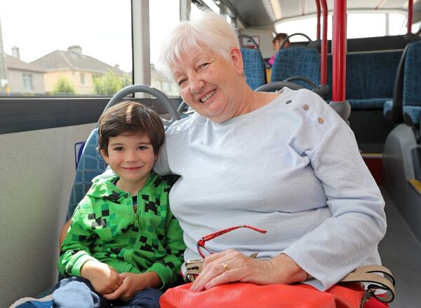 Noah Coen, from Mallow, with his grandmother, Ann Coen, Model Farm Road.