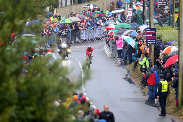 Thousands braved the elements to cheer on competitors in Youghal today.
