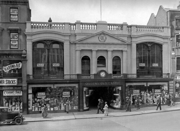 Queens Old Castle department store, Grand Parade, Cork pictured in 1934 Ref. 570B old black and white