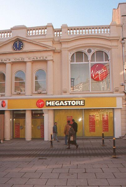 The former Virgin Megastore at the centre. 	Picture Mark Kelleher