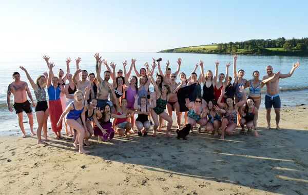 The Rise & Swim group after their swim at Fountainstown, Co. Cork.Picture Denis Minihane.