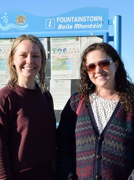 Emer Harrington (left) and Kitty Sheehan, organisers of the Rise & Swim group. Picture Denis Minihane.