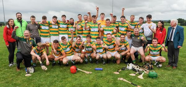 Blackrock celebrating their victory over Kildorrery. Picture: David Keane.