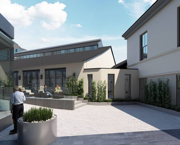 The internal courtyard of the proposed new development.