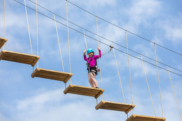 Picture shows Amie Finnegan (9) from Dublin enjoying one of the activities at Center Parcs Longford Forest. Picture :Naoise Culhane