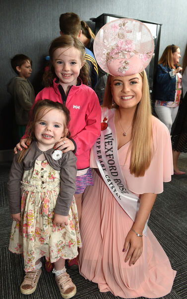 Wexford Rose Emma Byrne with young supporters Erin and Keelin Hayes