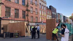 North Main Street reopens to vehicles following partial building collapse