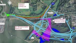 New slip road will bypass Dunkettle roundabout bring traffic directly onto the M8 Motorway