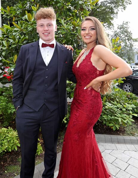 Sean Butler and Shannon Quaid at the Colaiste an Phiarsaigh debs at the Clayton Hotel Silver Springs, Cork. Picture: Jim Coughlan.