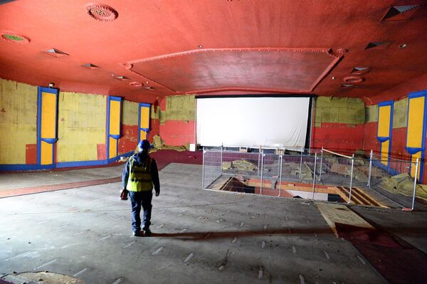 The main screen at The Capitol prior to its demolition. Picture: Denis Scannell