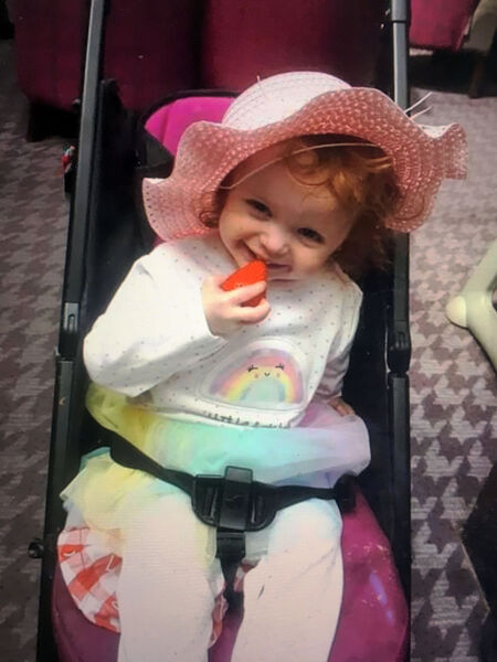 Two-year-old Santina Cawley who was killed in an apartment in Cork last Friday morning.Pic from Provision