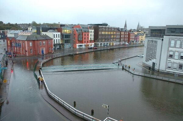 Morrison's Island is the lowest lying area of the city centre and is prone to tidal flooding.