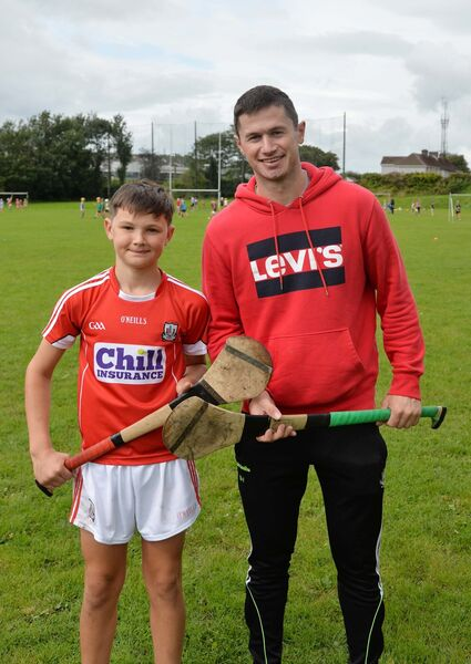 Seamus Harnedy with Michael Tadgh Brosnan, Glen Rovers. Picture: Denis Minihane.